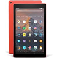 """Fire HD 10 Tablet with Alexa Hands-Free, 10.1"""" 1080p Full HD Display, 32 GB, Punch Red – with Special Offers"""