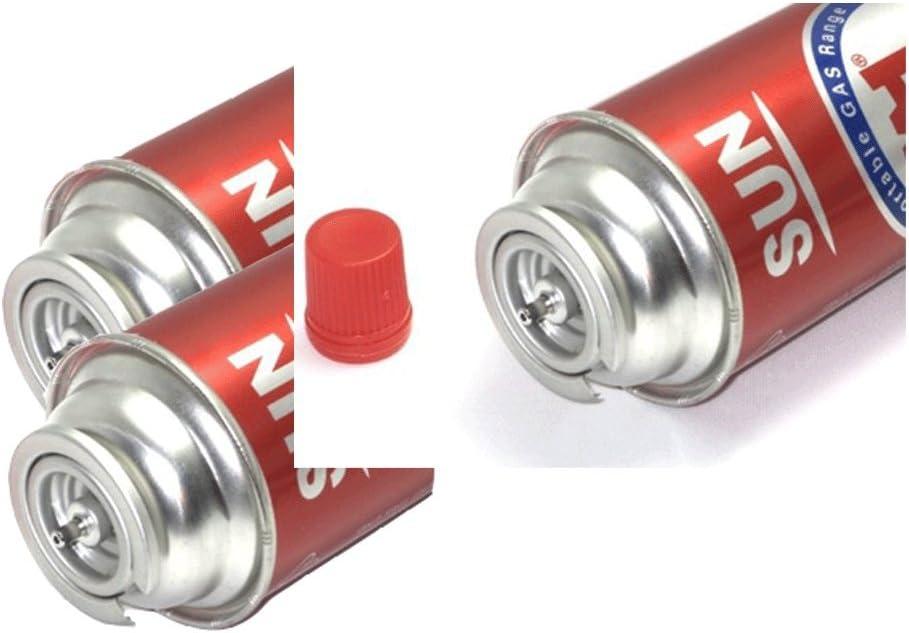 Paquete de 3 Cartuchos de Gas butano de Repuesto para Estufa portátil, Rango de Gas de 8 onzas