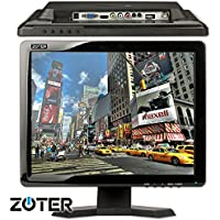 CCTV Monitor, BNC, ZOTER 15 inch HDMI VGA AV Input Portable LCD Mini Screen for Camera DVR