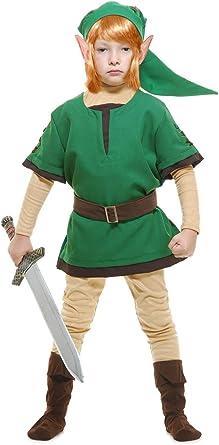 Charades Boys – Disfraz de elfo guerrero, verde lima, 10-12 años ...