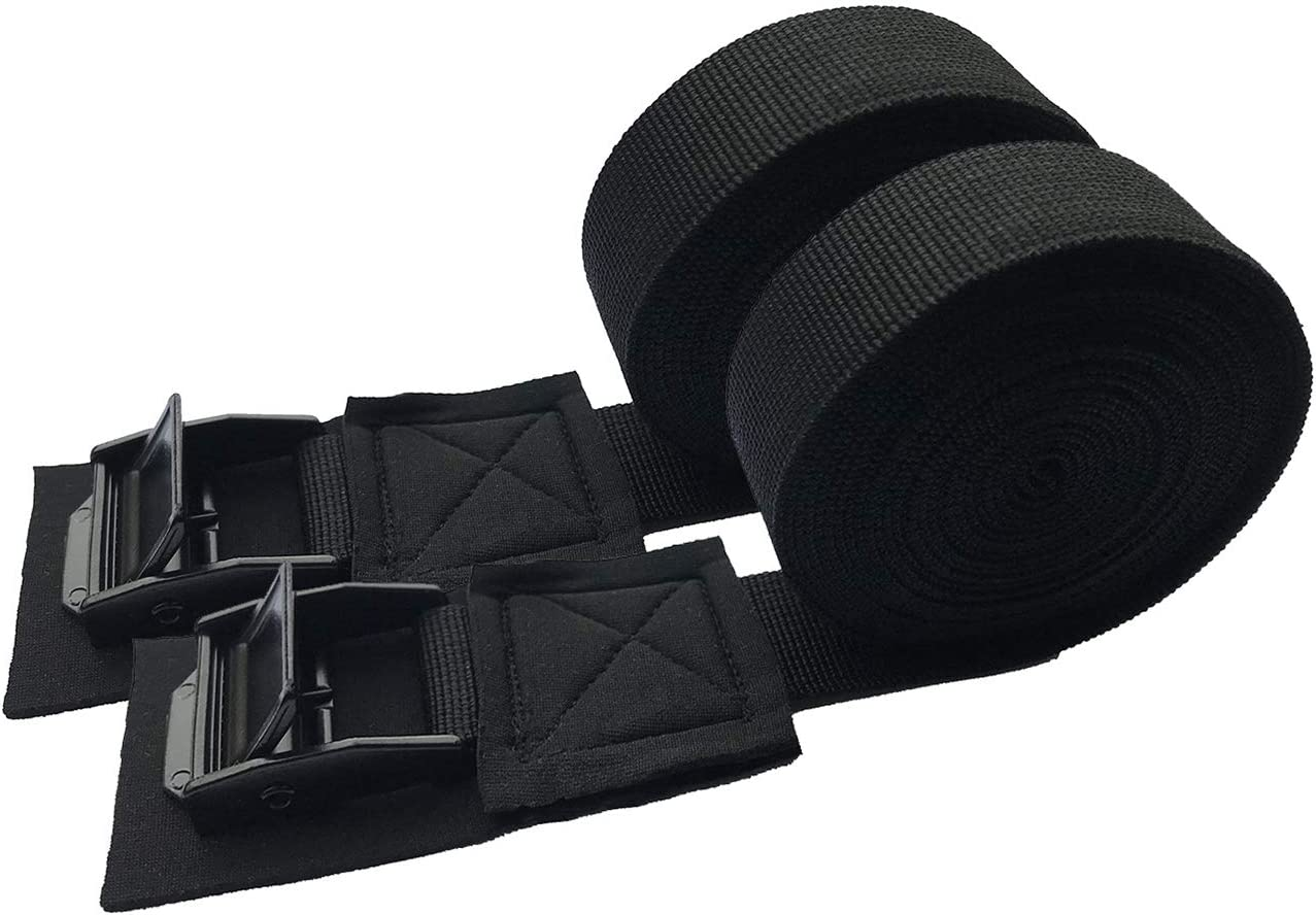 2pcs Heavy Duty 10ft Tie Down Cam Buckle Strap for Surfboard Kayak Roof Rack
