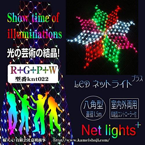 電光ホーム イルミネーション ネットライト 星 八角 1.5m 288球 レインボー RGPW B00PDRUPEG 10584