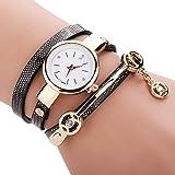 LianLe®Montre-bracelet pour femme de modèle rétro En PU