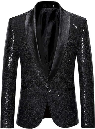 XQS Womens Notched Lapel Open Front Casual Suit Blazer Jackets