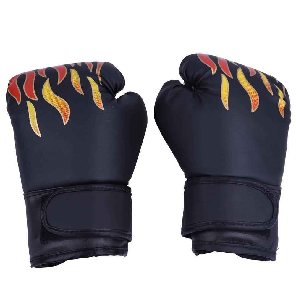 Guantes de Boxeo de Niños Guante de Entrenamiento de Cuero PU para Thai Sparring Kickboxing Guantes para Niños de 7-13 Años (Color : Negro) : Amazon.es: ...