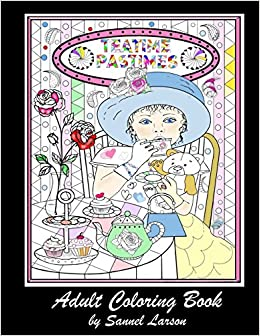 Teatime Pastimes - Adult Coloring Book: Stress-Relieving with Fun ...