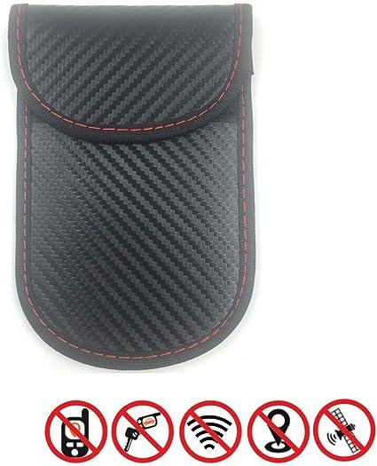 2 X Estuche bloqueador de señal de llave de coche, bolsa Faraday for llaves de coche