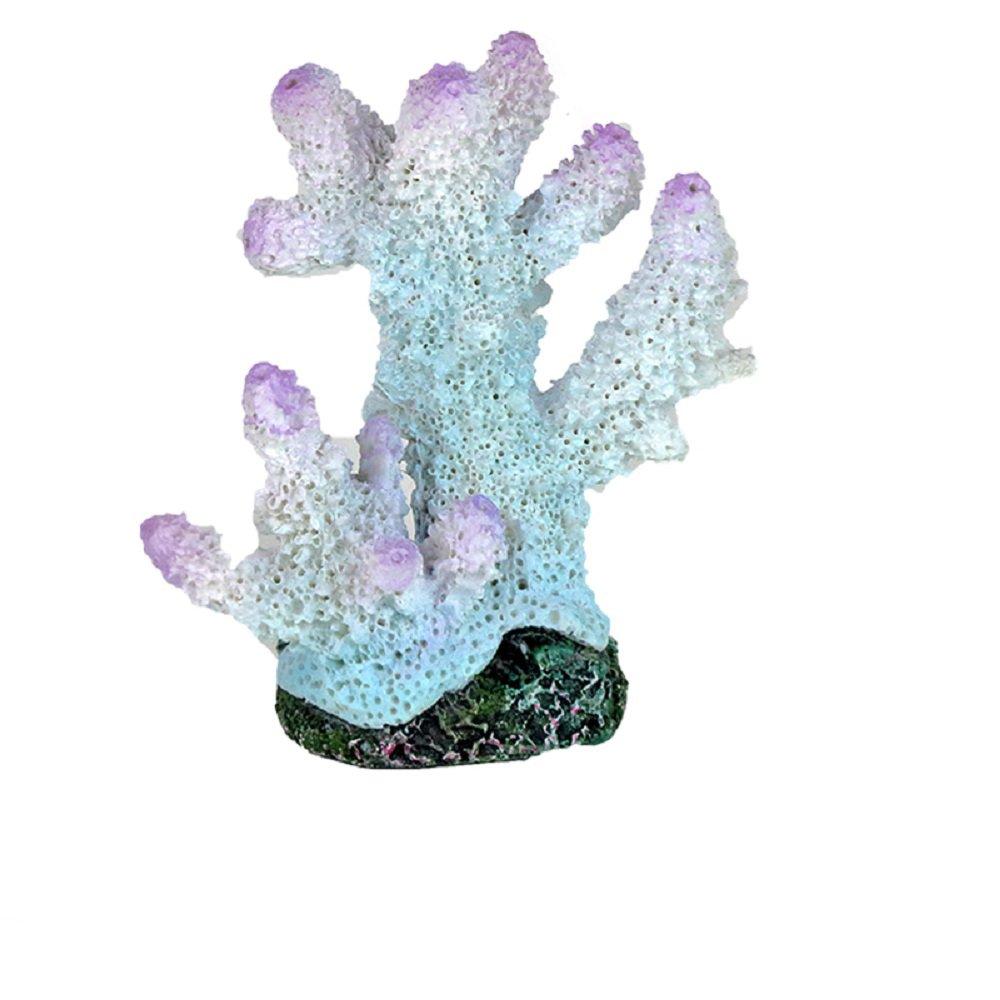 JUZIPI Decoración para Acuario con Acuario, Diseño de pecera de Coral, Color Blanco y Morado: Amazon.es: Productos para mascotas
