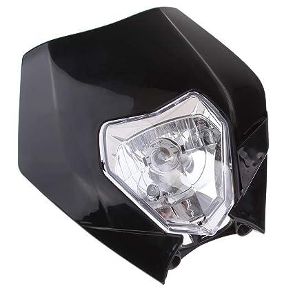Faros delanteros para motocicletas Forma /única y hermosa apariencia Negro