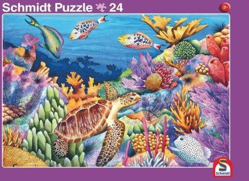 2er-Set Rahmenpuzzle Meer und Afrika 24 + 40 Teile Schmidt Spiele 56772