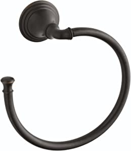 Kohler K-10557-2BZ Devonshire Towel Ring, Oil Rubbed Bronze