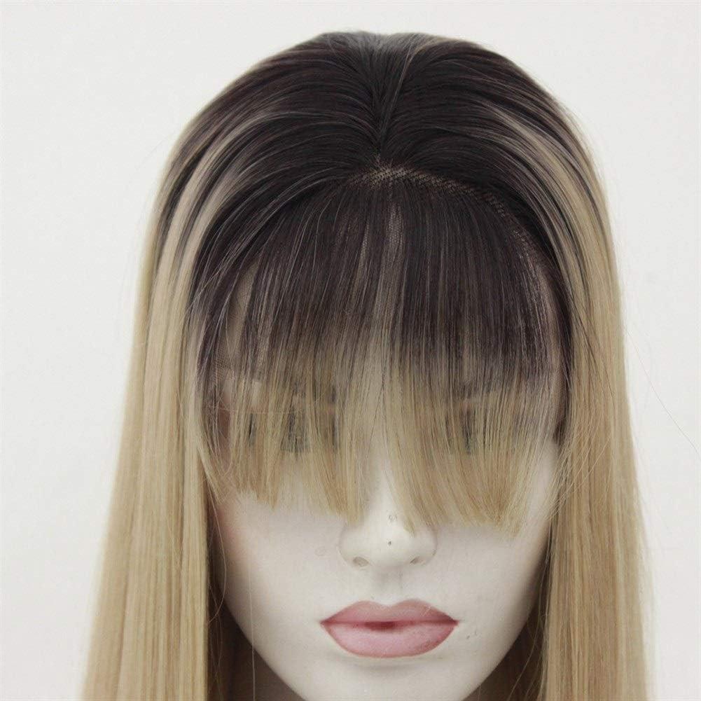 XueQing - Perruque longue et droite - Pour femme - Pour femme - Couleur : 55,9 cm 45,7 cm.