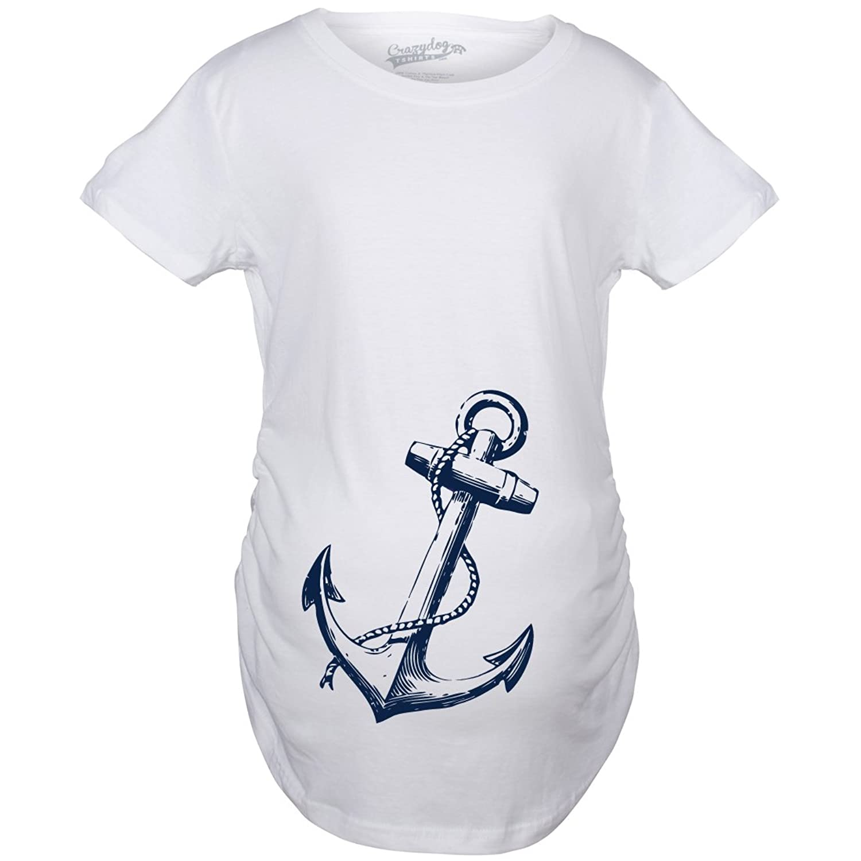 Amazon.com: Maternity Anchor Baby Cute Nautical Pregnancy ...