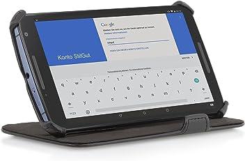 StilGut® UltraSlim Case, custodia con funzione di supporto per Google Nexus 6, nero