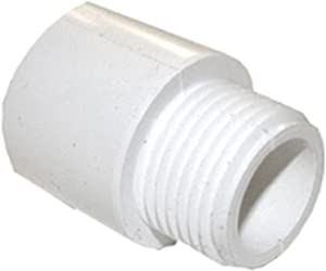 LASCO 15-1643 PVC Hose Adapter with 3/4-Inch Male Hose Thread and 3/4-Inch PVC Pipe Glue Connection