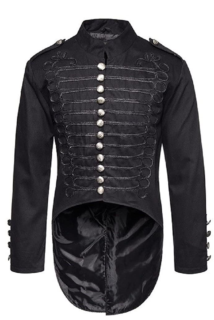 Gothic Master Gothic Steampunk Vintage Victorian Military Style Tailcoat  Jacket for Men Black at Amazon Men s Clothing store  74b355fb325