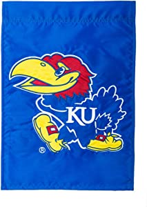 Team Sports America Applique University of Kansas Jayhawks Garden Flag, 12.5 x 18 inches