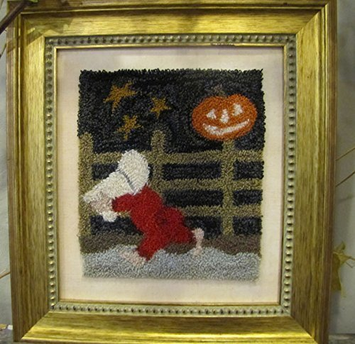 Punchneedle Embroidery OCTOBER BONNET GIRL (Cloth Punchneedle)