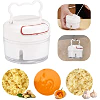 Mini Manual Garlic Chopper,Womdee Mini Hand Pull Food Processor,Compact & Powerful Hand Held Chopper for Vegetable, Fruit, Nut, Ginger, Onion, Meat,etc,Safe/Durable