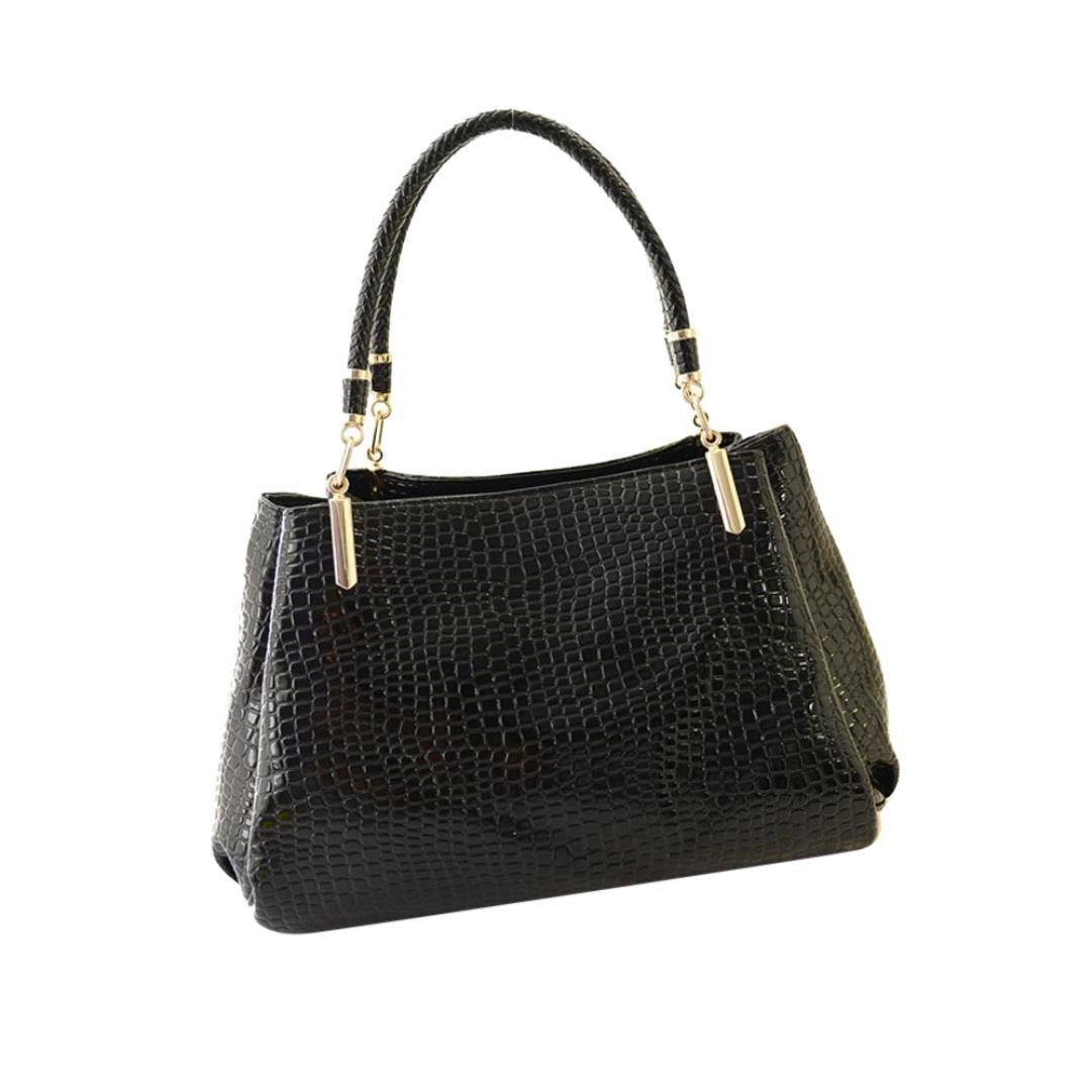 Women Handbag, Hunzed Fashion Leather Handbag Shoulder Bag Tote Messenger Satchel Purse For Ladies (Black)