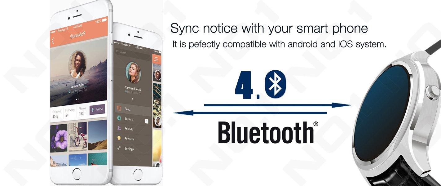 2016 Nueva No. 1 D5 Android SmartWatch 1.3