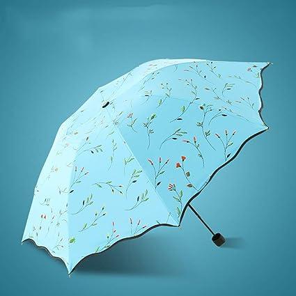 SYT Umbrellas Paraguas Paraguas Ultravioleta Ultra Ligero ...
