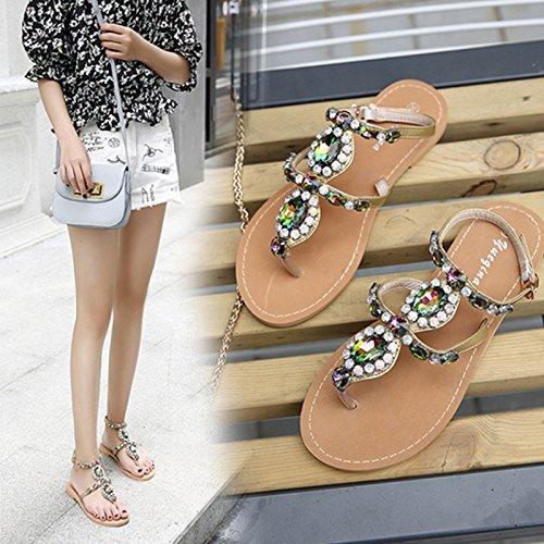 planos apricot de hebilla zapatos tanga color rhinestone hebilla clip tacón Zapatos sandalias ZHZNVX moda pxqwP5COO
