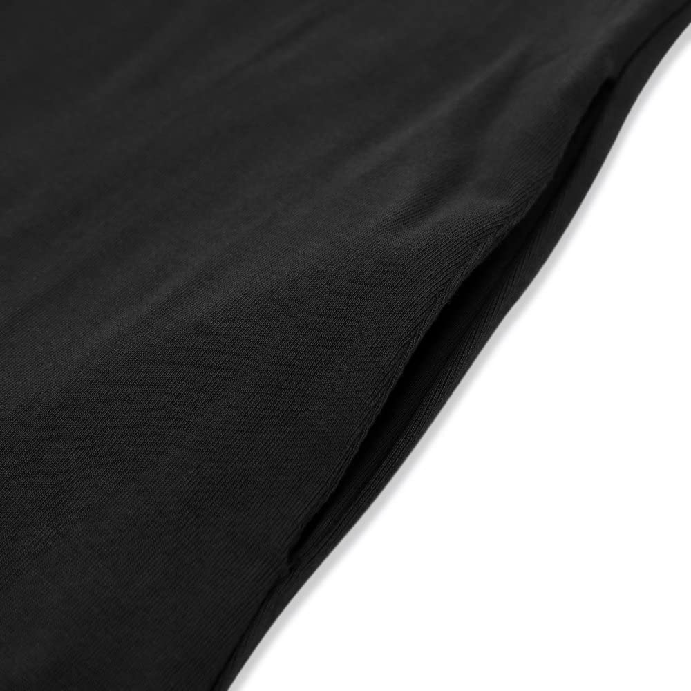 HUSKARY Women's Summer Maxi Dress Casual Loose Pockets Long Dress Short Sleeve Split at  Women's Clothing store