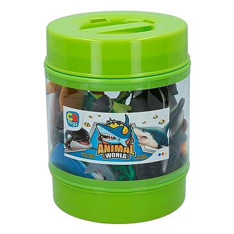 ColorBaby - Bote con animales marinos Animal World, 21 piezas (43436)