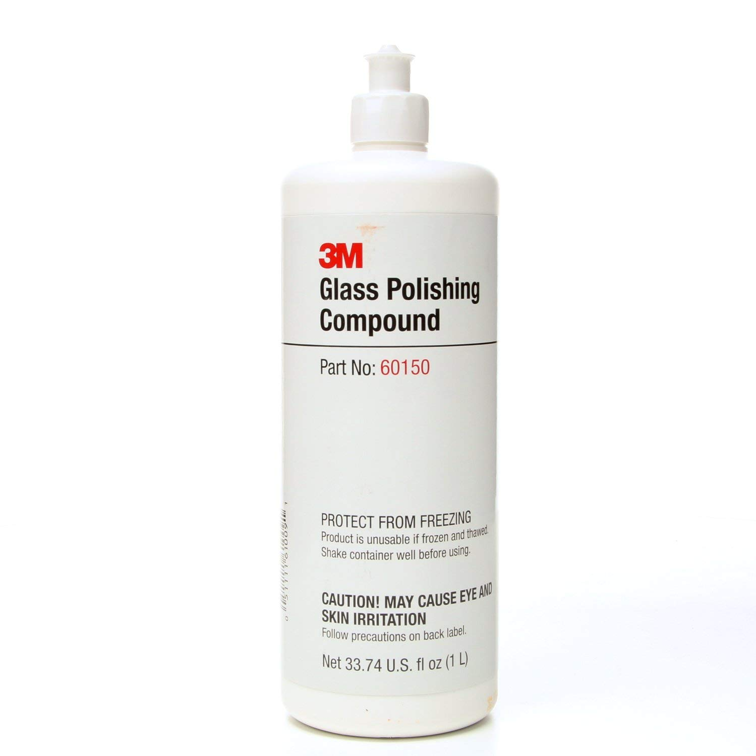 3M Glass Polishing Compound 60150, 1L Capacity, White (Pack of 1) 051111610091