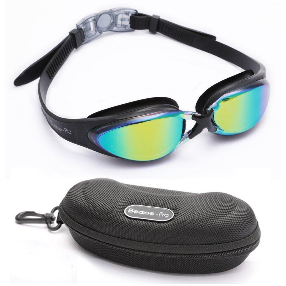 6ac7482f25f Bezzee-Pro Swimming Goggles Anti-fog Coated Adjustable Silicone ...
