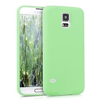 kwmobile Funda para Samsung Galaxy S5 / S5 Neo - Carcasa para móvil en [TPU Silicona] - Protector [Trasero] en [Menta Mate]