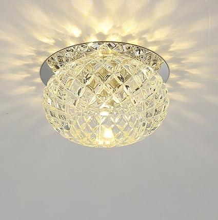 Lámpara De Techo Led Cristal Aisle Luces Techo Entrada ...