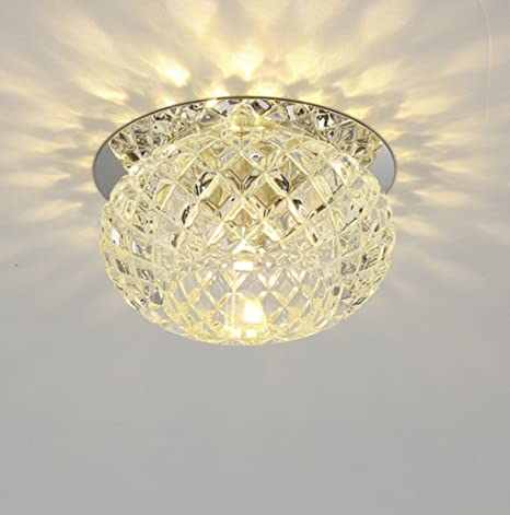 GJ- Lámpara De Techo Led Cristal Aisle Luces Techo Entrada ...