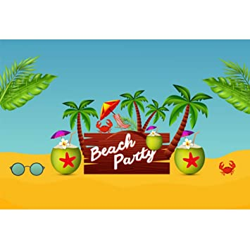 OERJU 2,2x1,5m Playa Partido Fondo Fiesta en la Playa ...