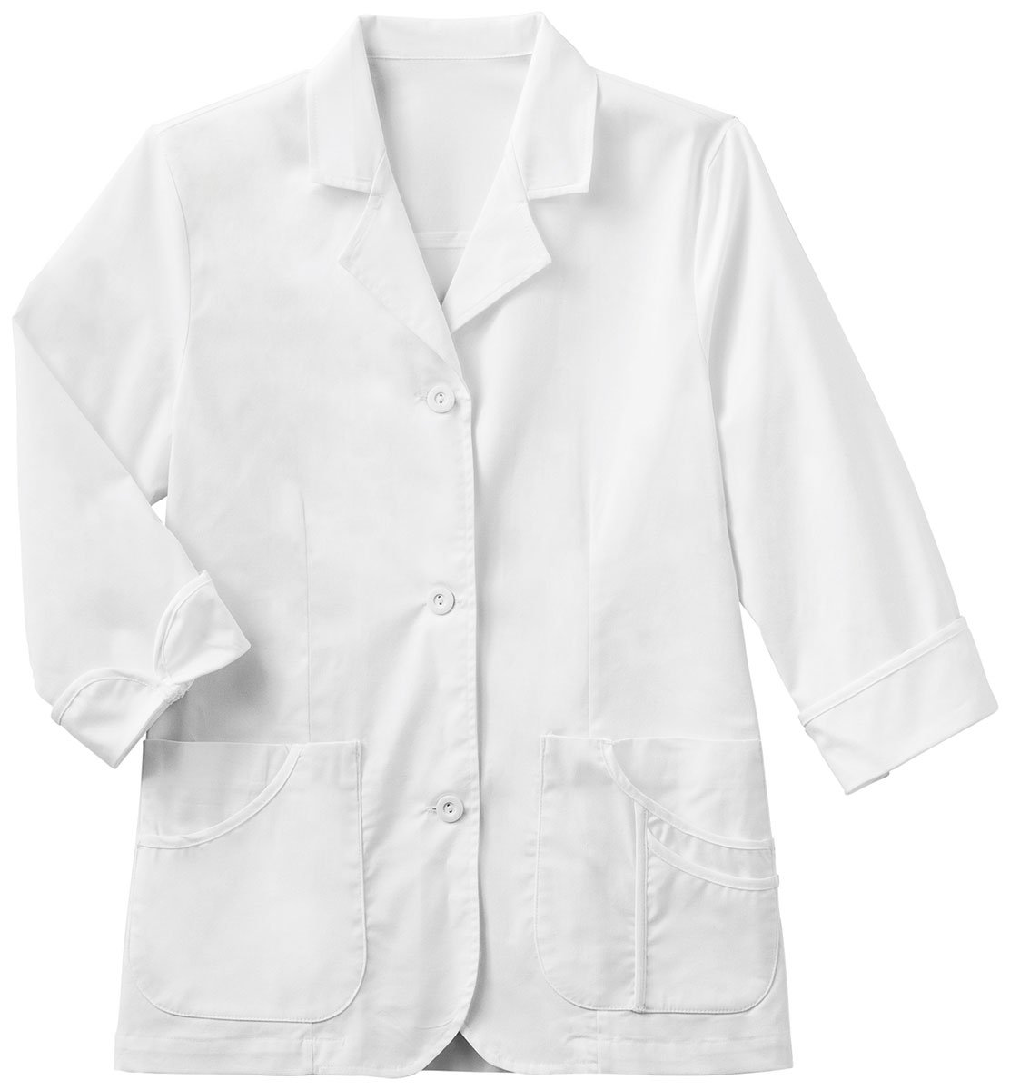 META Labwear Women's ¾ Sleeve 29''; Lab Coat White