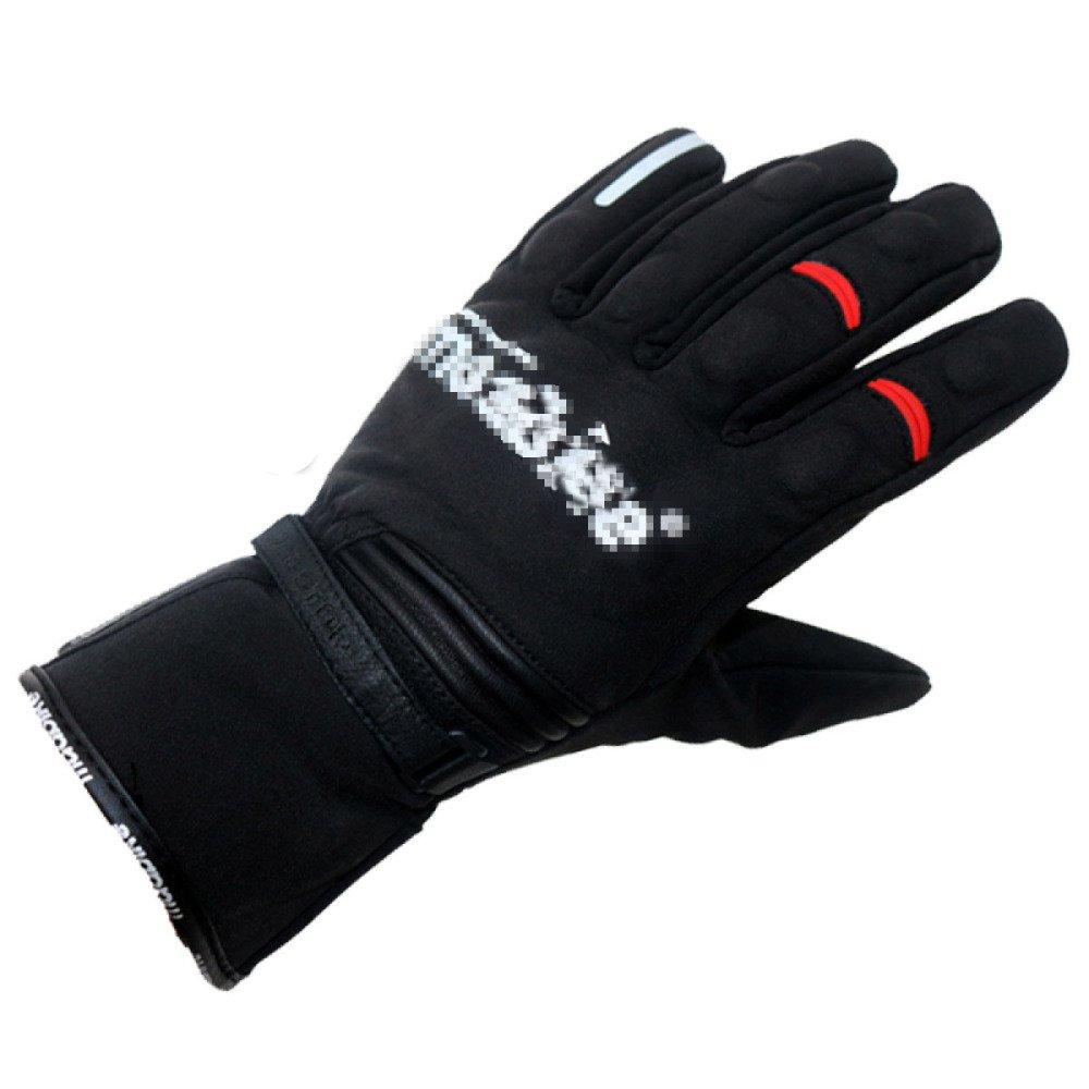 LDFN Motorrad Handschuhe Touchscreen Wasserdicht Warm Für Laufen Fahren Skifahren Skating Klettern Training,schwarz-XXL