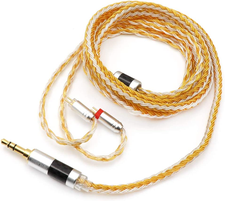 MMCX-2.5mm, Grey Linsoul Tripowin Zonie 16 Core Silver Plated Cable SPC Earphone Cable