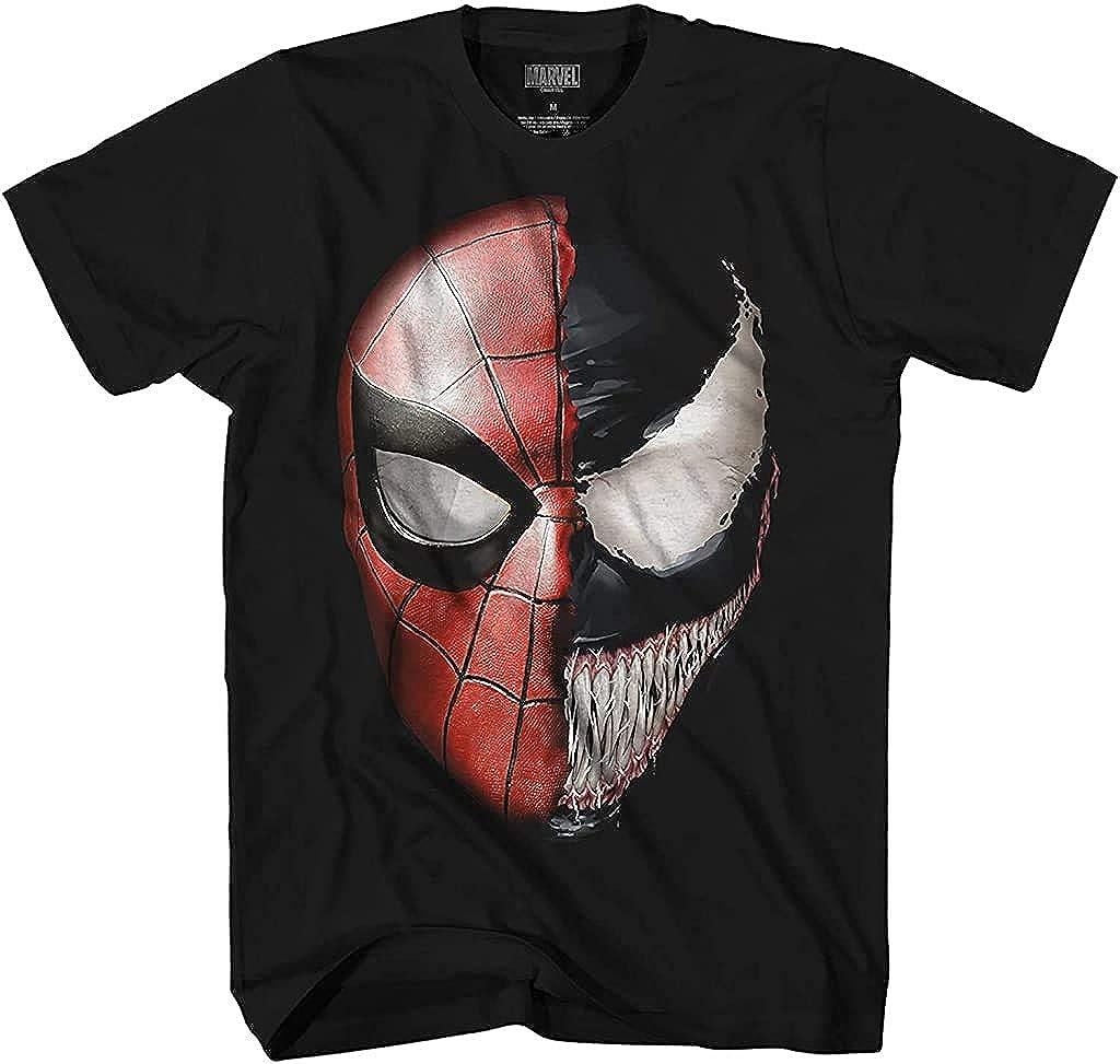 Venom Spidey Faces Spiderman Avengers Villain Comic Book Adult Tee Graphic T-Shirt for Men Tshirt