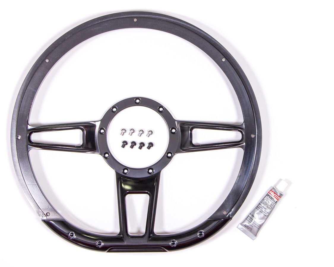 Billet Specialties BLK29409 Steering Wheel FormulaD-Shaped 14in Black