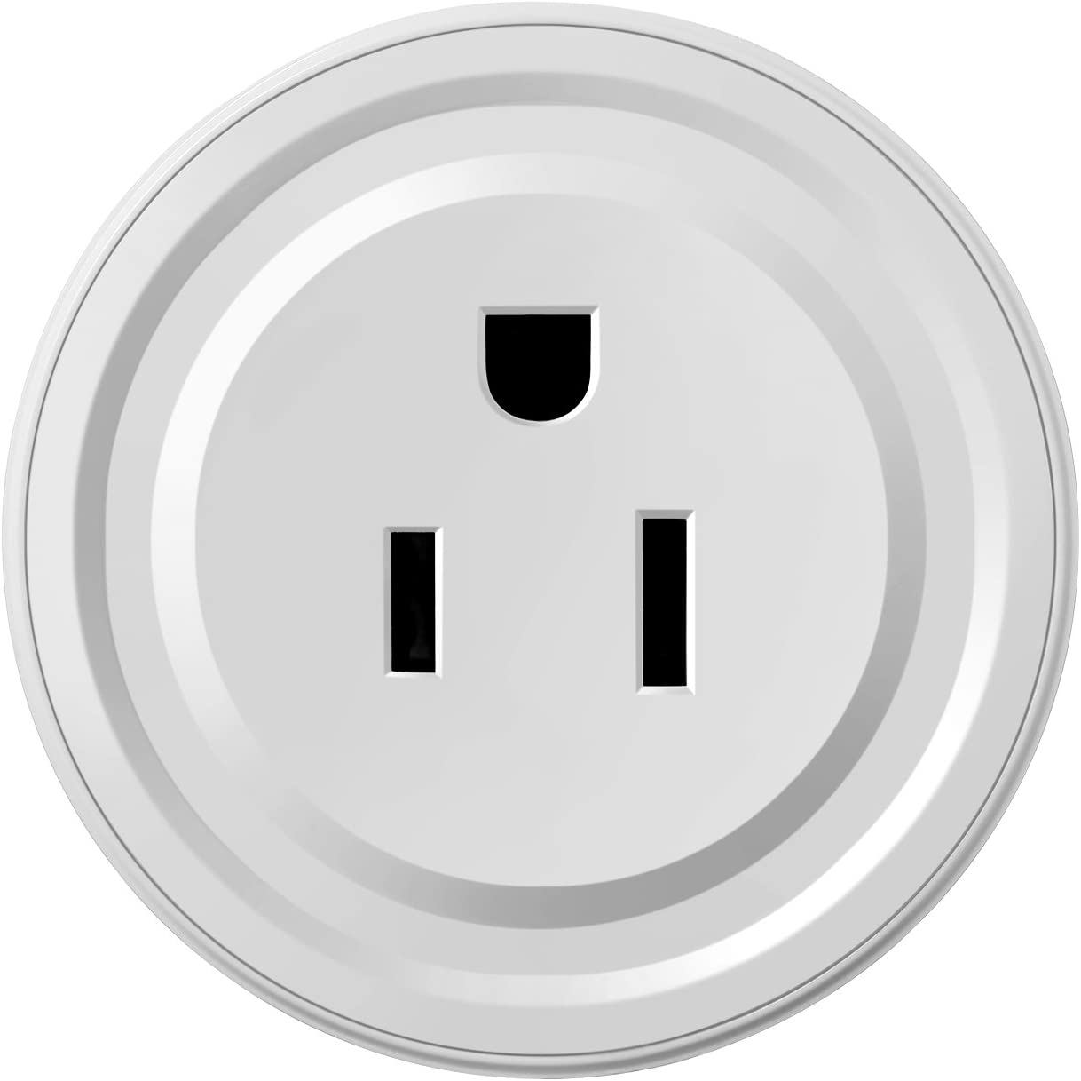 Smart Plug Wi-Fi Mini Socket Outlet Compatible with Alexa Wireless Control Your Devices from Anywhere, ETL Certificated Timing Function For Smart Phone Voice Control for Home Appliances White