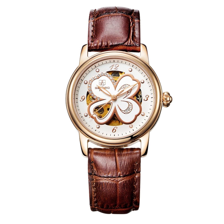 Automatische mechanische Uhr Lady-Hohlen Water resistant Zeitmesser- einfach und lÄssig Uhren-F