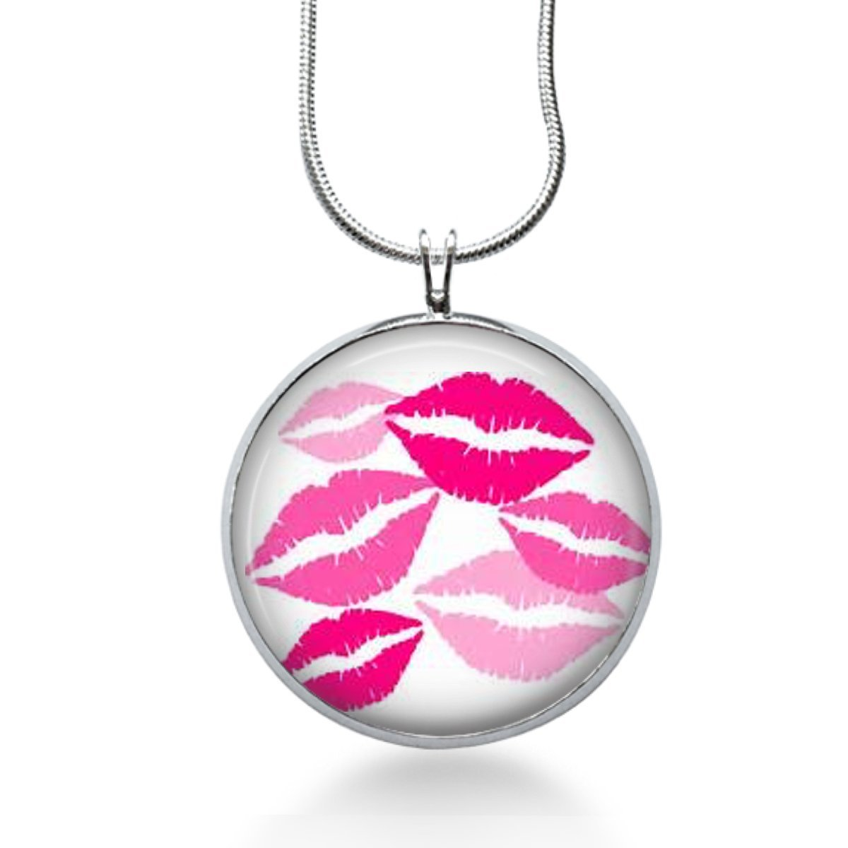 Lips mouth necklace Teen fun jewelry- handmade gifts