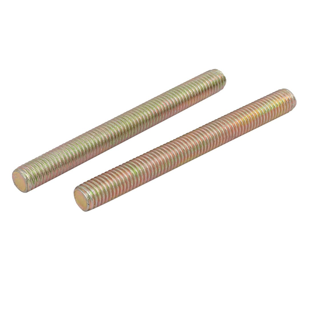Sourcingmap/® M8 Thread Dia 80mm Length Carbon Steel Zinc Plated Fully Threaded Rod 8pcs