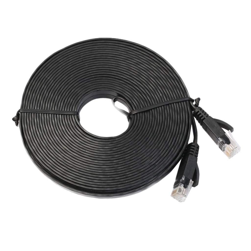 Black Ethernet Cable CAT6 98ft//30m Network RJ45 Patch Cord Internet Cat.6
