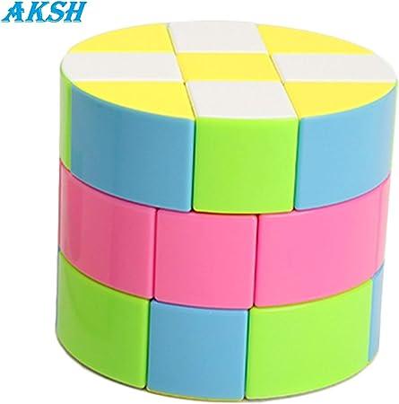 AKSH High Speed 3*3 Barrel Cube - Speed Magic Cube Stickerles Rubik Cube Puzzle (Random Colour) (Barrel Cube)