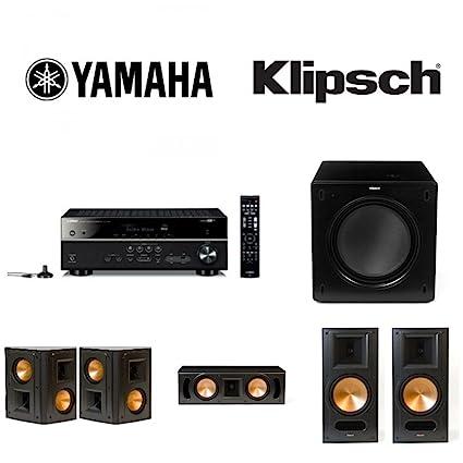 Yamaha RX V583 AV Receiver Bundle With 1 Pair Klipsch RB 81