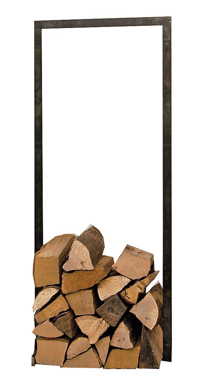 Raumgestalt - WoodTower, Gestell für Holz aus verzundertem Stahl (h100xb40cm)