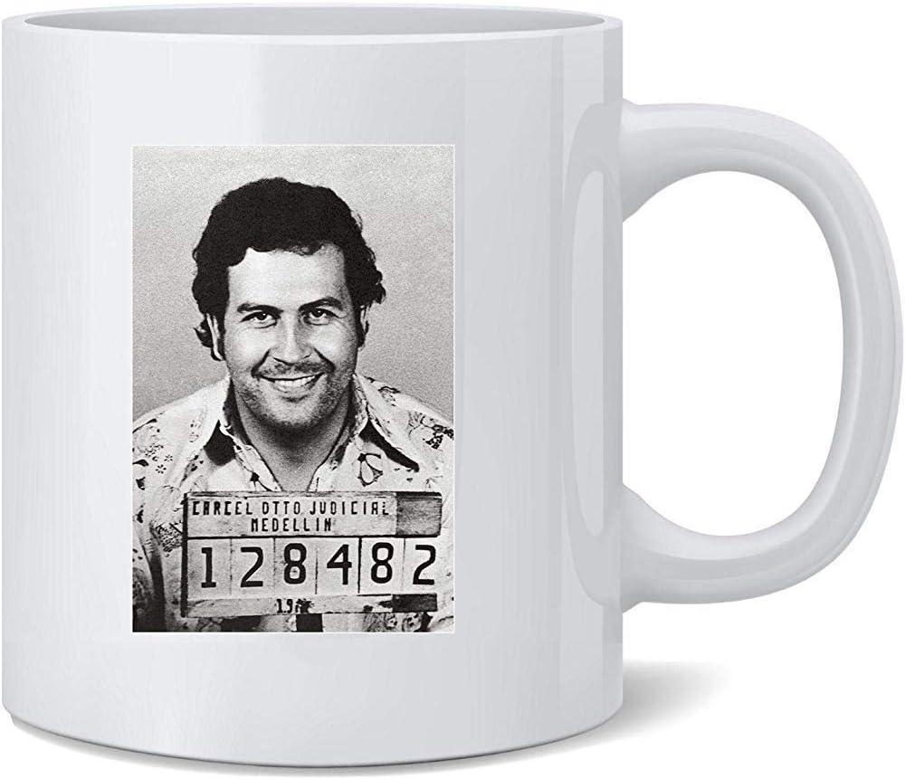 Único Tazas,Taza De Desayuno,Porcelana Taza Té Café,Pablo Escobar El Patron Medellin Colombia Mugshot Regalo Para Aniversario De Bodas,Día Del Padre/Madre,Cumpleaños