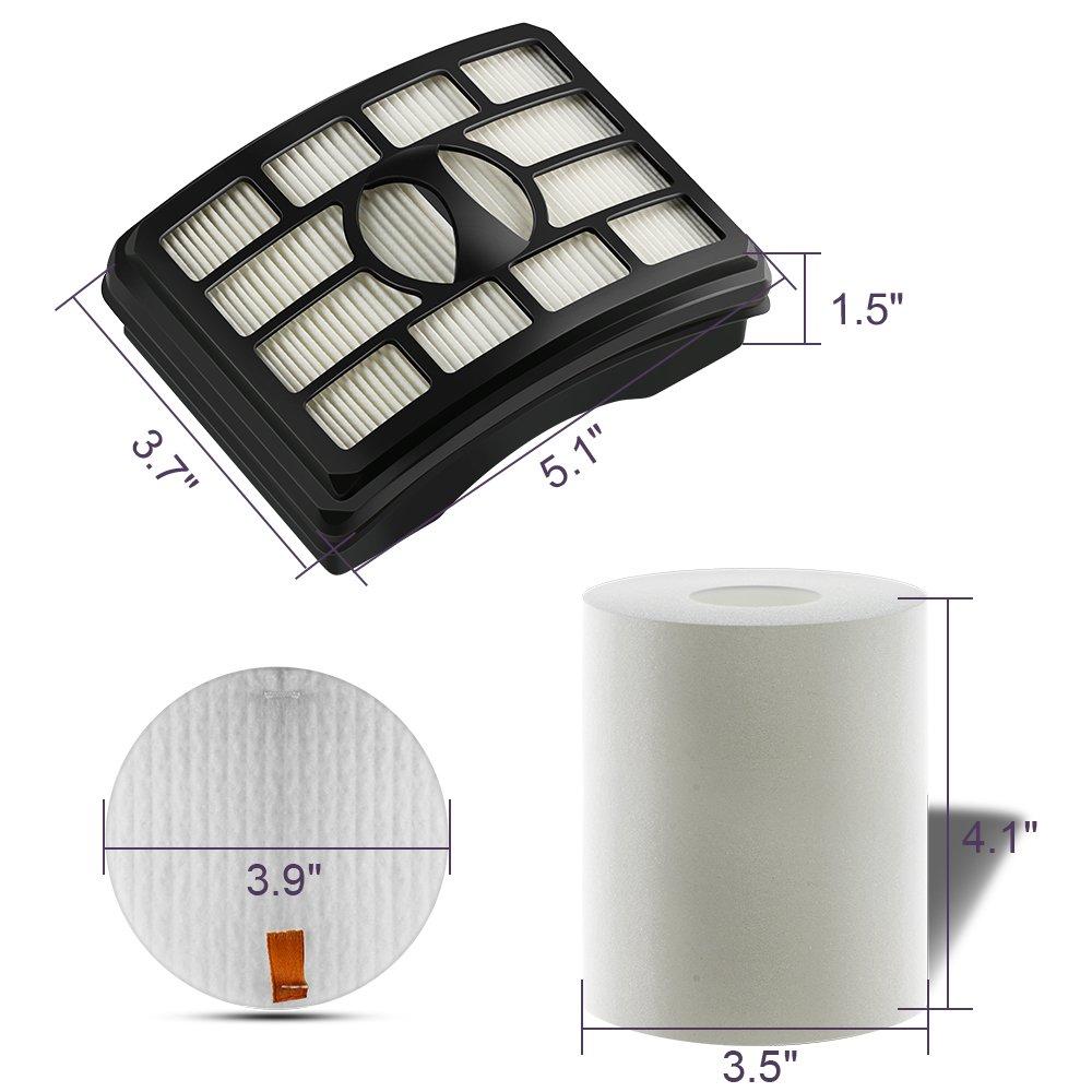 Accessories Kit For Shark Navigator NV500 Series NV501 NV503 NV505 NV501 NV520 NV552 UV560 Xff500 Model HEPA Filters Replacement Parts Set Shark Rotator Pro Lift-away 3pcs Foam Filters (Not Fit NV650